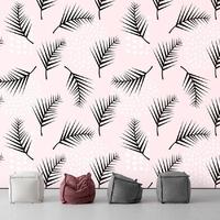 Tapeta na ścianę - pink palm , rodzaj - tapeta flizelinowa laminowana