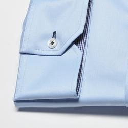Elegancka niebieska koszula męska van thorn slim fit  z klasycznym kołnierzykiem 42
