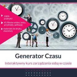 Generator czasu- interaktywny kurs zarządzania sobą w czasie.