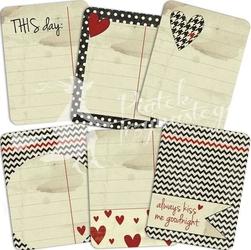 Ozdobne karty do journalingu Kochaj mnie bardziej - KMBA