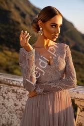 Sukienka midi z obfitą tiulową spódnicą capuccino, rene