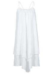 Sukienka z nieregularną linią dołu bonprix biały