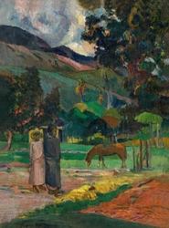 Tahitian landscape, paul gauguin - plakat wymiar do wyboru: 70x100 cm