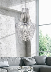 Lampa wisząca fontanna akrylowych kryształów perseo candellux 31-57495