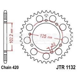 Zębatka tylna stalowa jt r1132-48, 48z, rozmiar 420 2302463 derbi senda 50