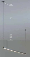 Lampa wisząca pds - o - l z led - 1 m - przesłona mleczna