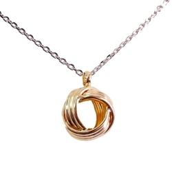 Aine naszyjnik srebrny węzeł celtycki pozłacany