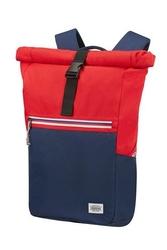 Plecak na laptopa american tourister upbeat 14 granatowo czerwony - bluered