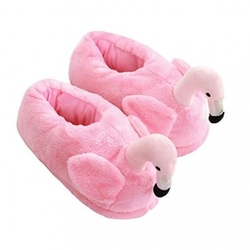 Kapcie flaming flamingi pluszowe papcie różowe