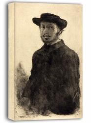 Autoportret1857, edgar degas - obraz na płótnie