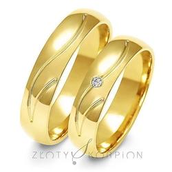 Obrączki ślubne złoty skorpion – wzór au-a140