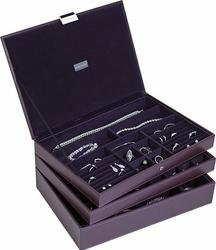 Pudełko na biżuterię potrójne supersize Stackers fioletowe