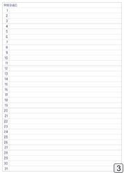 Tablica magnetyczna suchościeralna planer miesięczny 371