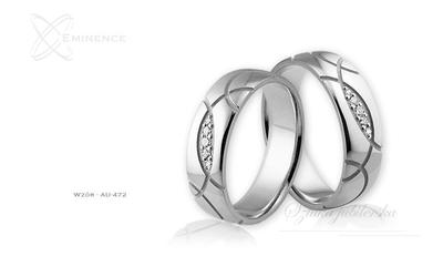 Obrączki ślubne - wzór au-472