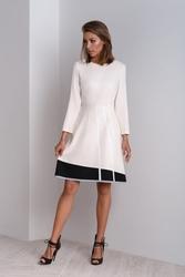 Wizytowa sukienka w kolorze kremowym catrise