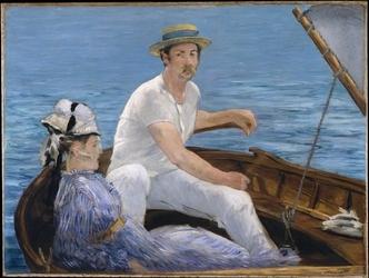 Reprodukcja boating, edouard manet
