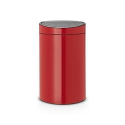 Brabantia - kosz touch bin 40 l - wiaderko plastikowe - czerwony - czerwony