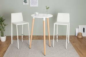 Stolik barowy jorn 105 cm skandynawski biały
