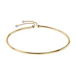 Staviori bransoletka złota bangle z łańcuszkami 19cm. żółte, białe złoto 0,333.