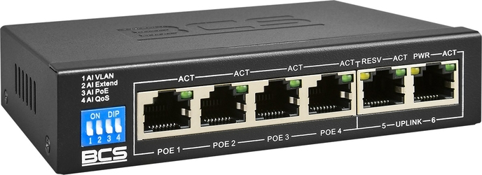 Bcs-b-sp0402 switch poe dla 4 kamer ip