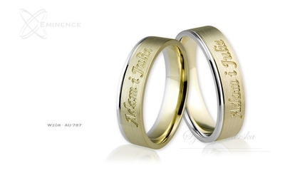Obrączki ślubne - wzór au-787
