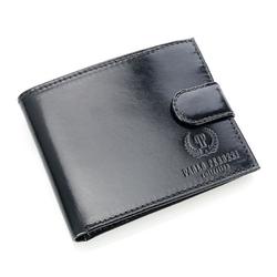 Paolo peruzzi ekskluzywny skórzany portfel męski w pudełku czarny ga55 - czarny
