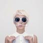 Fototapeta moda portret zmysłowe dziewczyny w stylowych okularów
