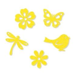 Filcowy zestaw wiosenny - żółte - ŻÓŁ