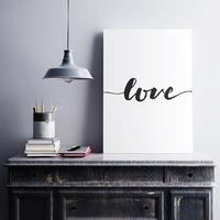 Love pionowy - minimalistyczny obraz na płótnie , wymiary - 60cm x 90cm