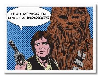 Star wars its not wise to upset a wookiee - obraz na płótnie