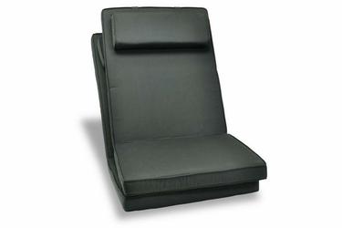 2 x poduszki do krzesła ogrodowego - czarne poduchy