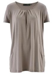 Długi shirt bonprix brunatny