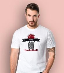 Basketrball t-shirt męski biały xl