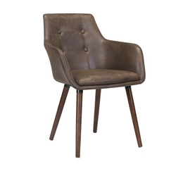 Krzesło tapicerowane johann brązowe