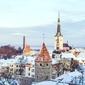 Fototapeta widok na miasto zimową porą fp 2203