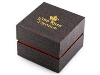 Prezentowe pudełko na zegarek - gino rossi premium - brown