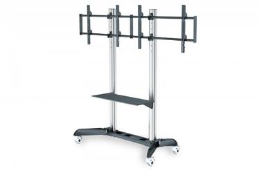 Digitus stojak mobilny podwójny z półką, 2xlcd, max. 70, max. 128kg, vesa max. 800x500