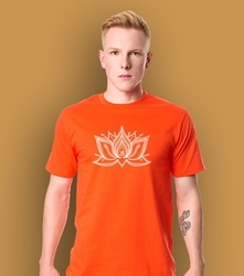 Lotos pulpet t-shirt męski pomarańczowy xl