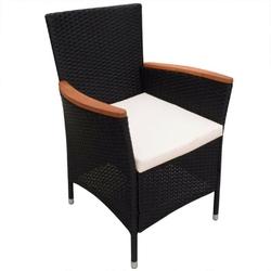 Komplet ogrodowy stół + 8 krzeseł nadia polirattan czarny