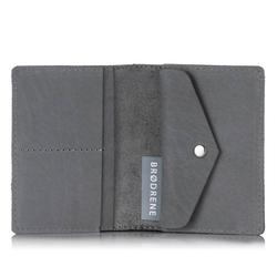 Skórzany portfel slim wallet brodrene sw08 szary