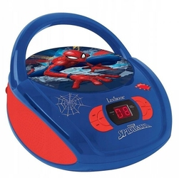 Boombox spiderman odtwarzacz cd aux mic jack