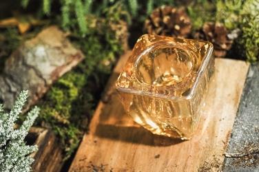 Świecznik szklany tealight 6.4 x 7 cm