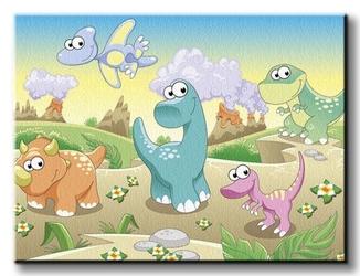 Dino, dinuś, dinozaury - obraz na płótnie