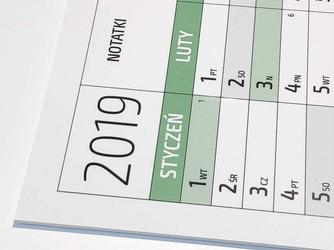 Kalendarz suchościeralny 2019 tablica 271