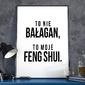 To nie bałagan, to moje feng shui - plakat w ramie , wymiary - 40cm x 50cm, ramka - biała