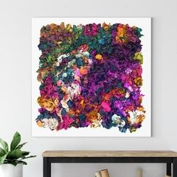 Obraz na płótnie - rainbow waterfall , wymiary - 80cm x 80cm
