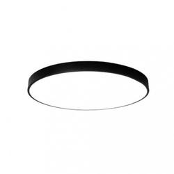 Sufitowa nowoczesna cienka lampa okrąg plafon led czarna