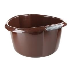 Miska na pranie  łazienkowa z uchwytami plastikowa okrągła solidna bentom brązowa 30 l