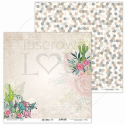 Papier do scrapbookingu love llama 30,5x30,5 cm - 05 - 05