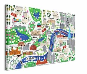 Ulice Londynu - obraz na płótnie